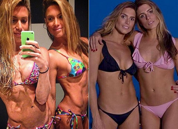 """Bia e Branca Feres relembram passado saradíssimo em selfie: """"Nada saudável"""""""