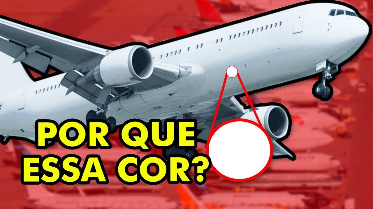 Por que os aviões quase sempre são brancos?