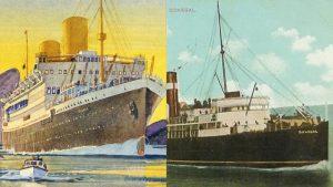 Os dois navios de batalha que Arthur embarcou durante a Primeira Guerra / Crédito: Wikimedia Commons / Maritime Archaeology Trust