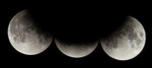 Sombra semi-circular da Terra na Lua durante um eclipse lunar parcial / Crédito: Wikimedia Commons
