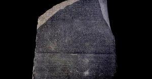 Pedra de Rosetta / Crédito: Wikimedia Commons