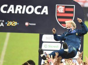 Jorge Jesus, campeão carioca com o Flamengo — Foto: André Durão / GloboEsporte.com