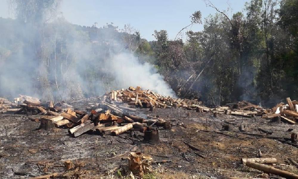 Bombeiros de Ituporanga atenderam três ocorrências de incêndio no mesmo dia