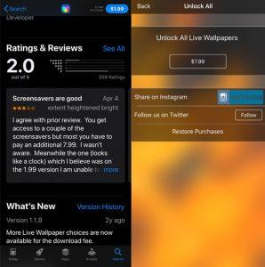 Aplicativos falsos têm reviews negativos e cobram preços altos (Foto: Reprodução/Avast)