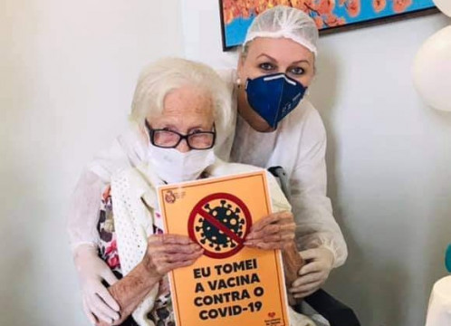 Taió começa vacinação de idosos de 85 a 89 anos na próxima segunda (1°)